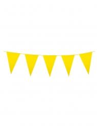 Guirlande med mini vimpler gul 3 m