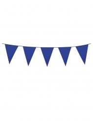 Guirlande med mini vimpler mørkeblå 3 m