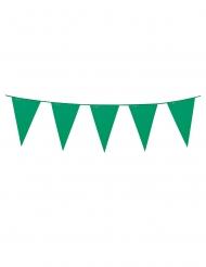 Guirlande med mini vimpler grøn 3 m