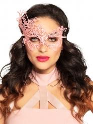 Sexet halvmaske lyserøde blonder kvinde