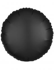 Aluminium ballon rund mat sort 43 cm