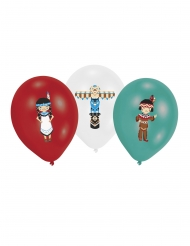 6 Latex balloner indianer 27,5 cm½