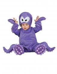 Blækspruttekostume med hætte til små børn