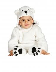 Heldragt med hætte hvid bjørn - baby