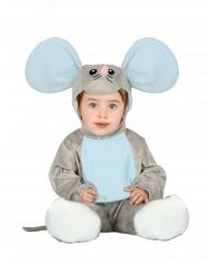 Gråt og blåt musekostume til små børn