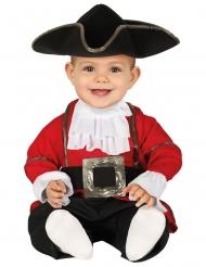 Rødt og sort piratkostume til babyer