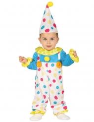 Prikket klovnekostume til babyer