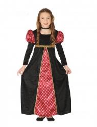 Middelalder Kostume Sort Rød til Piger