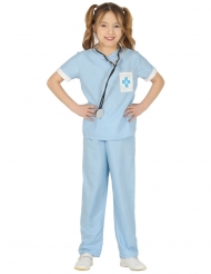 Dyrlæge kostume blå pige