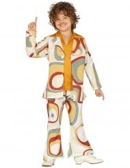Geometrisk disko kostume dreng