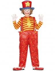 Klovn kostume sjov farvet klovn dreng