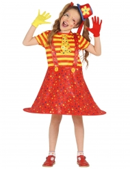 Sjov flerfarvet klovn kostume pieg
