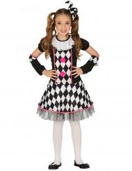 Harlekin sort og lyserød pige