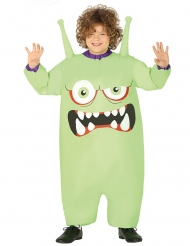Grønt oppusteligt monster kostumer til børn