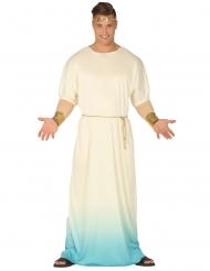Kostume græsk gud hvid og blå mand