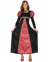 Middelalder dame sort og rød kostume kvinde