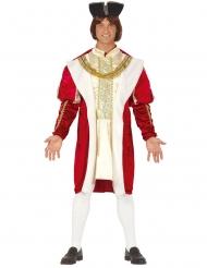 Kostume middelalder konge rød og guld mand