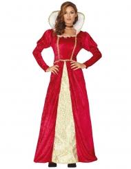 Dronninge kostume rød og guld kvinde