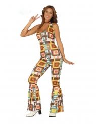 Kostume geometrisk disko heldragt kvinde
