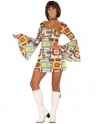 Geometrisk disko kjole kostum ekvinde