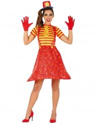 Kostume flerfarvet sjovt klovn kvinde
