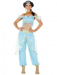 Oriental prinsesse kostume blå kvinde
