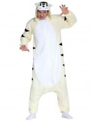 Kostume heldragt hvid tiger voksen