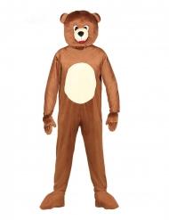 Kostume heldragt maskot bjørn voksen