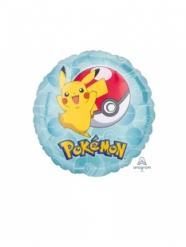 Lille rund aluminiumsballon Pokemon™ 23 cm