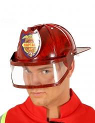 Rød brandmandshjelm til voksne