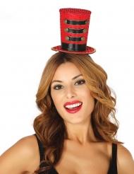 Mini høj hat til kvinde - rød