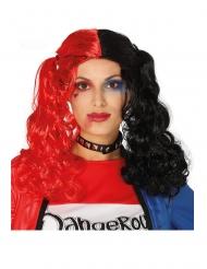 Paryk Hestehale sort og rød krøllet til kvinder