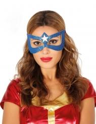 Superheltinde maske blå voksen