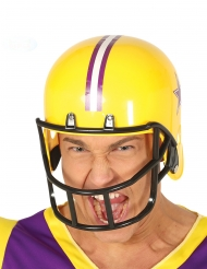 Amerikansk fodboldspiller hjelm gul voksen