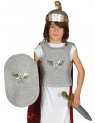Romersk soldat sølvfarvet - barn