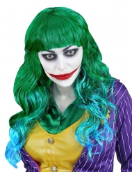Grøn blå paryk psykopat til kvinder