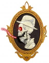 Ramme med skelet-gentleman med lyd og bevægelse 32 x 48 cm