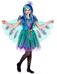 Majestætisk påfugl kostume pige