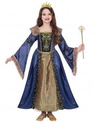 Middelalder vinterdronning kostume pige