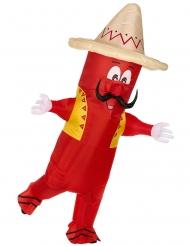 Oppustelig mexicansk chili kostume voksen