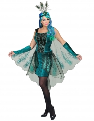 Majestætisk påfugl kostume kvinde!