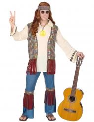 Hippie peace kostume mand
