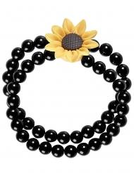 Hippie perle armbånd med solsikke - voksen