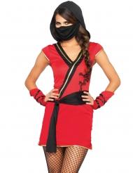 Mystisk rød ninja kostume kvinde