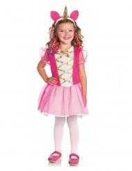 Lyserødt enhjørninge kostume til piger