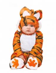 Sort og orange tigerkostume til babyer