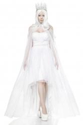 Kostume hvid dronning kvinde