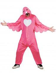 Flamingo kostume lysrød mand