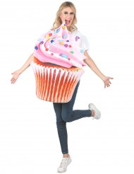 Cupcake vitamin kostume lyserød voksen