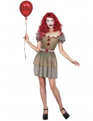 Psykopat klovne kostume kvinde